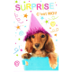 "CARTE POSTALE TECKEL POIL LONG ""SURPRISE"""