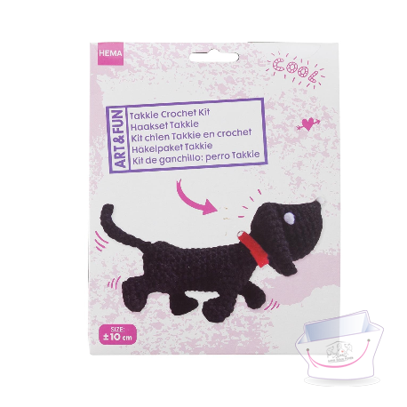 kit crochet chien teckel a faire soi m 202 me univers teckel