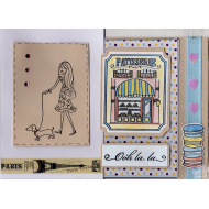 LOT DE 2 CARTES POSTALES TECKEL SE PROMENANT DANS PARIS